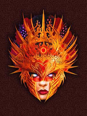 Mardis Digital Art - Venetian Mask Nbr A1 by Will Barger