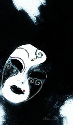Mixed Media - Venetian Mask Of Mystery by Barbara Chichester