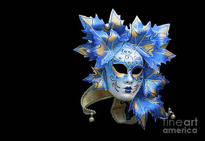 Photograph - Venetian Mask On Black by Patricia Hofmeester
