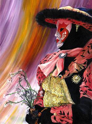 Carneval Painting - venetian mask VI by Leonardo Ruggieri