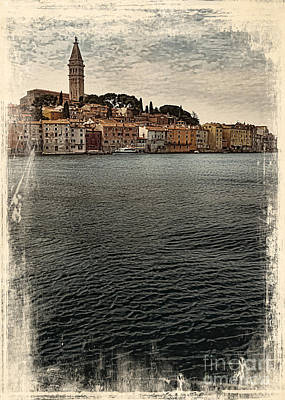 Waterscape Drawing - Venetian Old Town by Svetlana Sewell