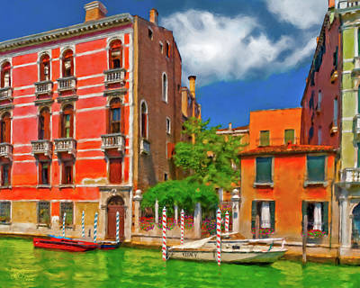 Art Print featuring the photograph Venetian Patio by Juan Carlos Ferro Duque