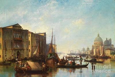 1881 Painting - Venetian Scene by Celestial Images