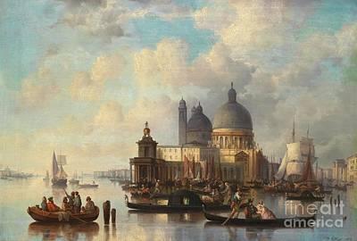 Bohemia Painting - Venetian Scene With Santa Maria Della Salute by Celestial Images