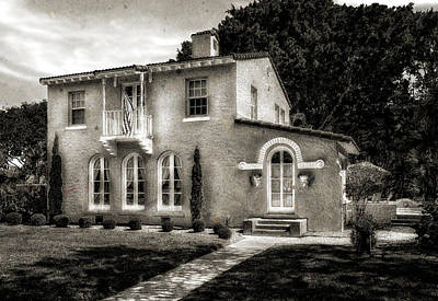 Photograph - Venetian Style 1926 Florida Home - 42 by Frank J Benz