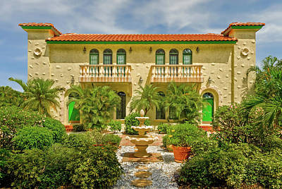 Photograph - Venetian Style Florida Home  -  Venetianstylehome173138 by Frank J Benz