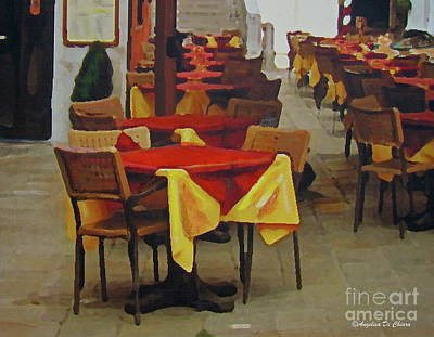Photograph - Venetian Tables by Italian Art