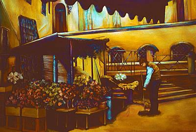 Wall Art - Painting - Venetian Venditore by Gaye Elise Beda