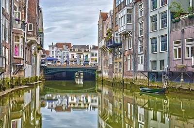 Print featuring the photograph Venetian Vibe In Dordrecht by Frans Blok