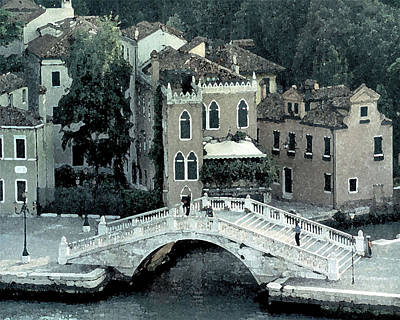 Digital Art - Venetian Walking Bridge by Donna Corless