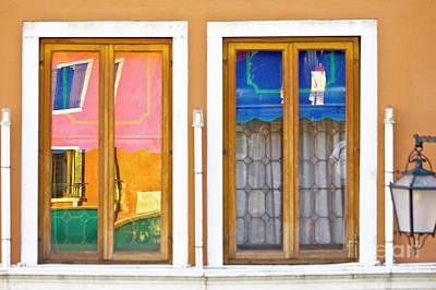 Venetian Window Reflections Art Print