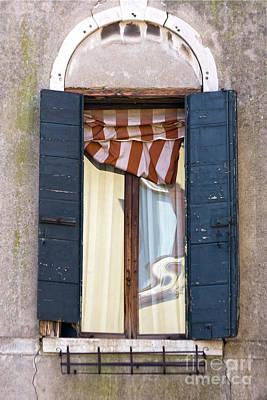 Venetian Windows Shutter Art Print