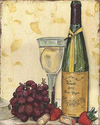 Milk Bottle Painting - Veneto Pinot Grigio by Debbie DeWitt