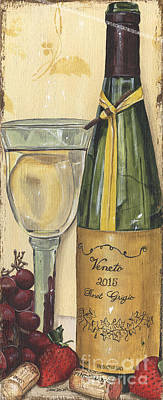 Interior Still Life Painting - Veneto Pinot Grigio Panel by Debbie DeWitt