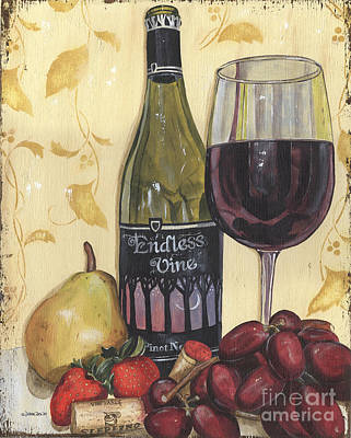 Outdoor Cafe Painting - Veneto Pinot Noir by Debbie DeWitt