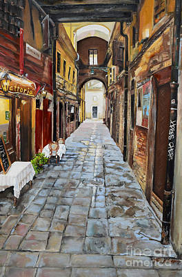 Painting - Venezia - Alley On Parangon In Venice by Jan Dappen