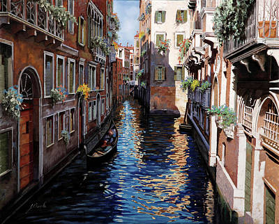 Venice Wall Art - Painting - Venezia Blu by Guido Borelli