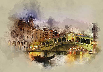 Grande Painting - Venezia, Canal Grande by Dante Blacksmith