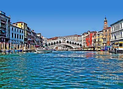 Venezia - Il Gran Canale - Ponte Rialto Art Print by Carlos Alkmin