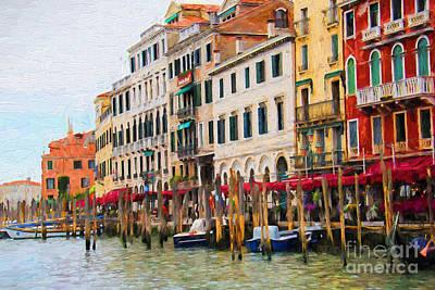 Venezia Digital Art - Venezia by Mariola Bitner