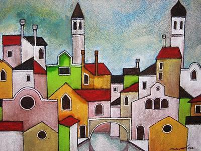 Quadro Painting - Venezia Scorcio by Luca Corona