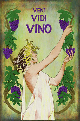 Digital Art - Veni Vidi Vino by John Haldane