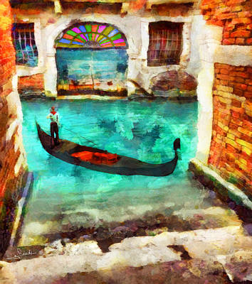 Fantasy Painting - Venice 4 by George Rossidis