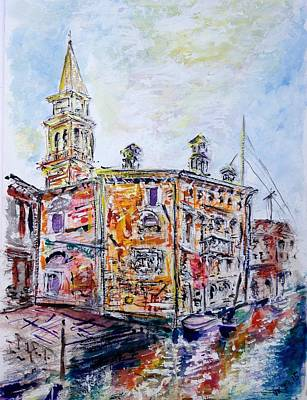 Painting - Venice 7-3-15 by Vladimir Kezerashvili