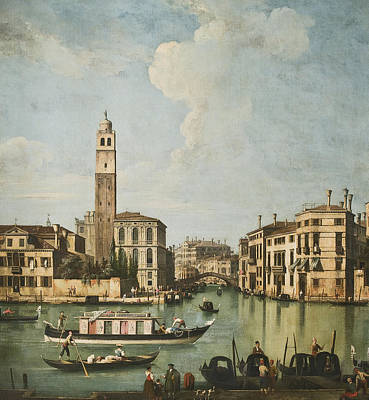 Grande Painting - Venice A View Of The Canal by Giovanni Battista