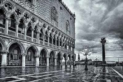 Doges Palace Photograph - Venice After The Rain by Andrew Soundarajan