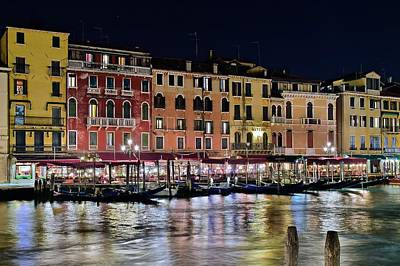 Gondola Ride Photograph - Venice Aglow by Frozen in Time Fine Art Photography