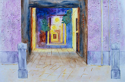 Painting - Venice Alley At Night by Patricia Beebe