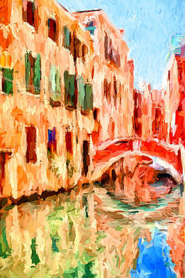 Digital Art - Venice Alone 1 by Yury Malkov