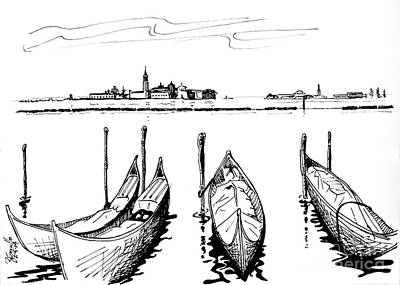 Wine Drawings - Venice by Andrew Cravello