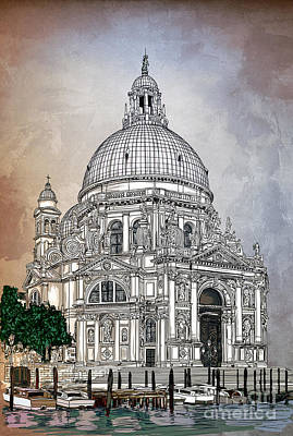 Digital Art - Venice  by Andrzej Szczerski