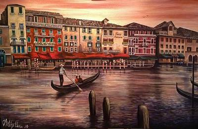 Painting - Venice by Art By Three Sarah Rebekah Rachel White