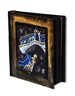 Venice Art Guest Books - Venetian Artists - Hotel Wedding Memory Diary Book Illustration Original by Arte Venezia
