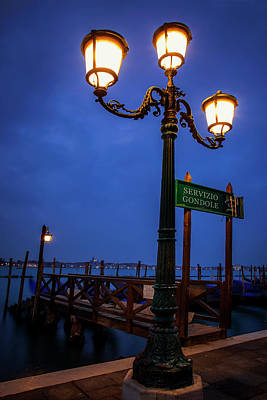 Photograph - Venice At Night by Andrew Soundarajan