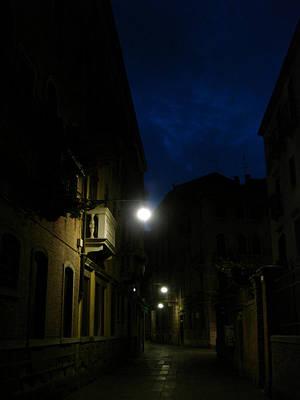 Venice At Night Art Print by Jennifer Kelly