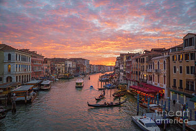Photograph - Venice At Sunset - Italy by Jeffrey Worthington