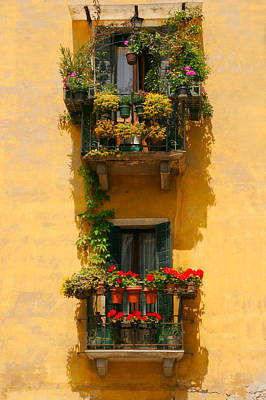 Venice Balcony Art Print by Carl Jackson