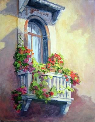 Venice Balcony Art Print
