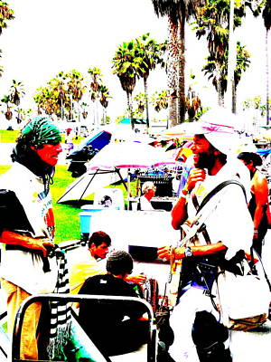 Funkpix Digital Art - Venice Beach Artsy Crowd by Funkpix Photo Hunter