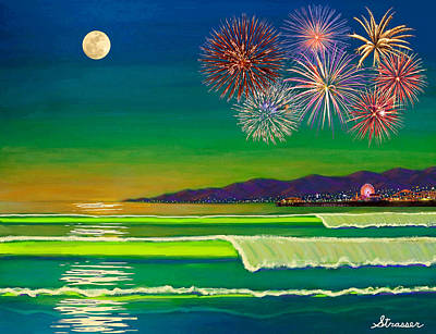 Painting - Venice Beach Celebration  by Frank Strasser