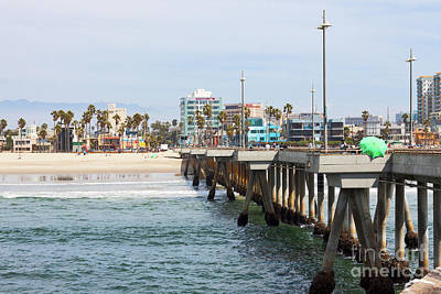 Venice Beach Photograph - Venice Beach From The Pier by Ana V Ramirez