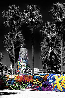 Photograph - Venice Beach Graffiti Fusion by John Rizzuto