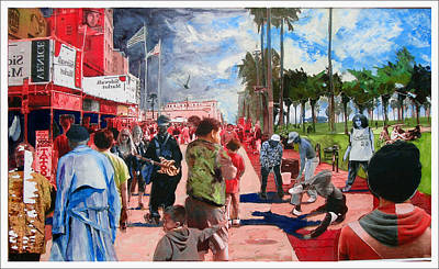 Venice Beach Mixed Media - Venice Beach Menagery by Daniel Gray