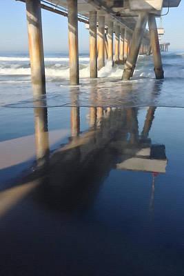 Venice Beach Pier Reflection Art Print