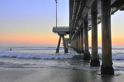 Venice Beach Pier Sunset Art Print