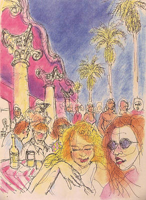 Venice Beach Drawing - Venice Beach by Walter Clark
